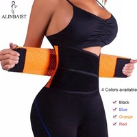 Unisex Neoprene Sweat Belt Waist Trainer Workout Trimmer Body Shaper Weight Loss Exercise Slimming Girdle Waist Support Women