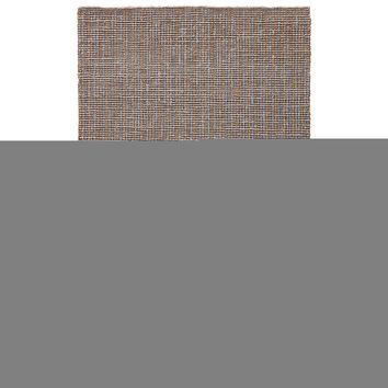Youth Stripes Pattern Neutral/Black Jute Area Rug ( 2x3)