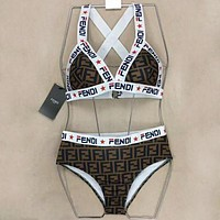 FENDI Two Pieces Swimsuit Swimwear Bikini Set Bathing Suits