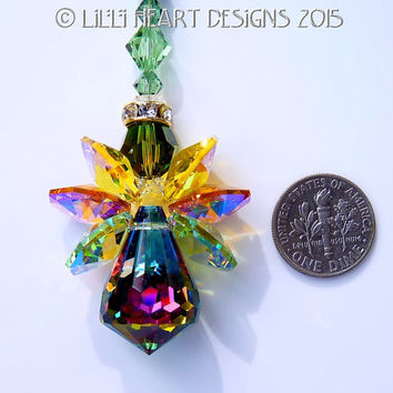 m/w Swarovski Very Rare Vintage Body Fall Leaves Colors AUTUMN STAR ANGEL SunCatcher Lilli Heart Designs
