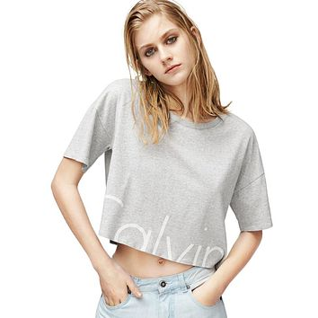 CK Calvin Klein Women Fashion Cami Crop Shirt Top Tee