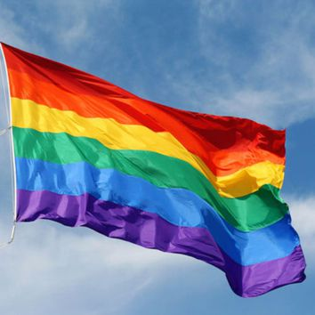 LGBT FLAG 90 x 150 cm Rainbow Flag Polyester for Lesbian Gay Bisexual Transgender LGBT Flag