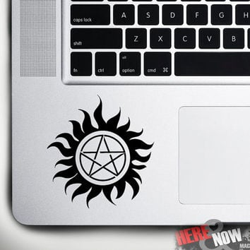 Supernatural protection symbol - macbook decal/sticker for track pad, palm rest(for 11'', 13'', 15'', 17'' or any laptop)