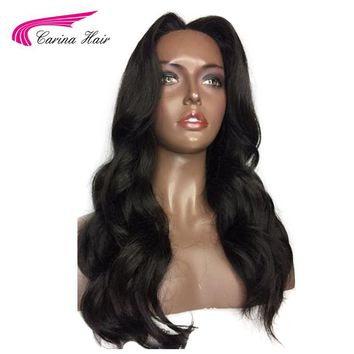 Hair Peruvian Remy Human Hair 150% Density Silk Base Wigs Body Wave Natural Color Wavy Full Lace Wigs
