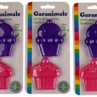 Lot 3 Garanimals Chill & Chew Teether Cupcakes Baby Biting Toy Dishwasher Safe