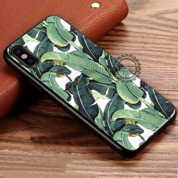 Beverly Hills Hotel Martinique Wallpaper Banana Leaf iPhone X 8 7 Plus 6s Cases Samsung Galaxy S8 Plus S7 edge NOTE 8 Covers #iphoneX #SamsungS8