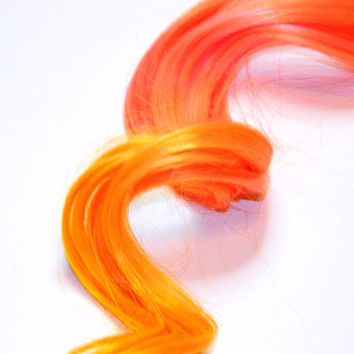 Hair Extensions Ombre Peach Paste Clip in Hair by CandyAppleLocks
