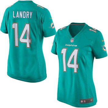 Women's Miami Dolphins Jarvis Landry Nike Aqua Game Jersey