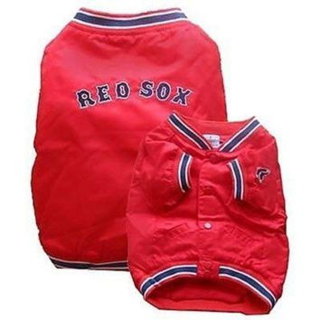 DCCKT9W Boston Red Sox Dog Dugout Jacket