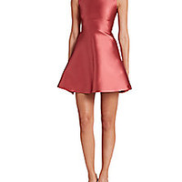 RED Valentino - Taffeta Fit-&-Flare Dress - Saks Fifth Avenue Mobile