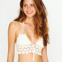 Daisy Crochet Bikini Top at Free People Clothing Boutique