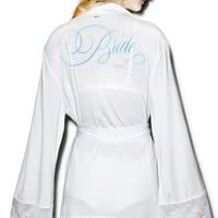 Wildfox Couture Here Comes The Bride Dressing Robe White Wedding
