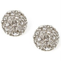 Rhinestone Cluster Dome Earrings