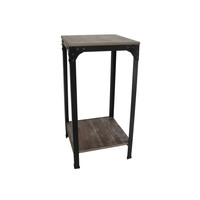 Set of 2 Distressed Wood Side Tables (China) | Overstock.com