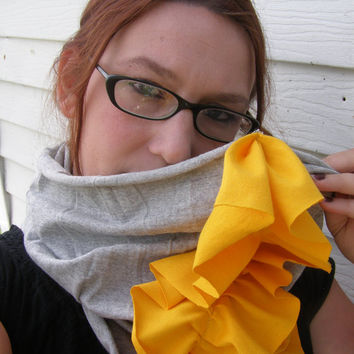 Sunshine on a cloudy day ruffle cowl hood / the original infinity scarf