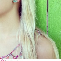 Ellie Stud Earrings in Abalone Shell - Kendra Scott Jewelry