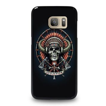 affliction indian skull samsung galaxy s7 case cover  number 1