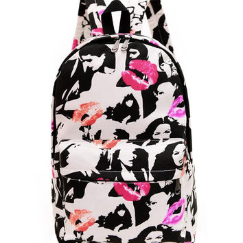 Canvas Backpack for Women, Teens and Kids B003