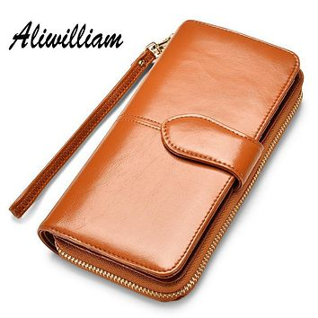 Candy Leather Clutch Bag Women Long Wallets Famous Brands Ladies Coin Purse Wallet Female Card Phone Holders Carteira Feminina
