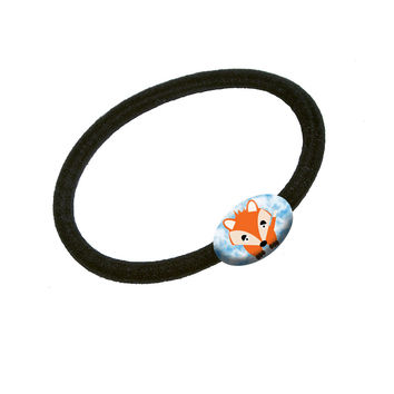 Fox in the Clouds Hair Band Tie Elastic Ponytail Holder