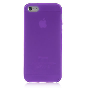 Purple Solid Color Case For iPhone 5 & 5S