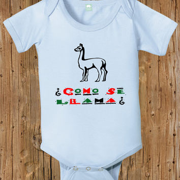 Baby Bodysuit Funny Infant Shirt Como Se Llama Mexico Mexican Spanish 0 6 Months 12 18 Little Boys Tee Newborn Girls Tshirt Babies Clothing