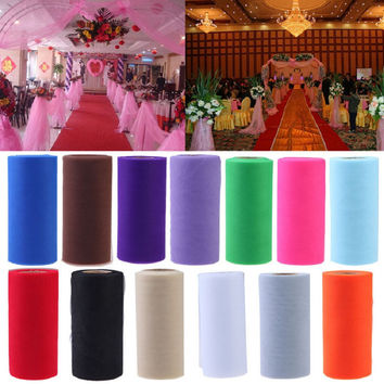 25Yards/Lot 6inch Tissue Tulle Roll Paper Wedding Decoration
