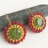 Handcrafted Earrings - So Green