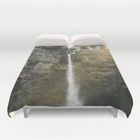 Waterfall Bed Cover - Duvet Cover Only - Bed  Spread - Multnomah Falls Portland Oregon - Made to Order