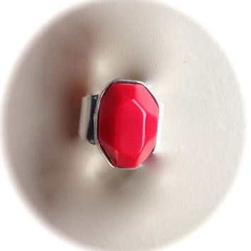 Red Coral Ring (size 7)