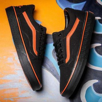 DCCKIJG Trendsetter VANS x VLONE Canvas Old Skool Flats Sneakers Sport Shoes