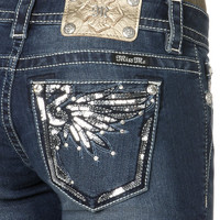 Shine On Wings Boot Cut Jeans