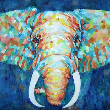 Colorful Elephant - Art Print 302
