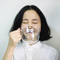 Cute Creative Cartoon Cat Face Mug / Cup Glassware Drinkware Christmas Gift