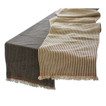 Cotton and Jute Table Runners Set (Set of 2)