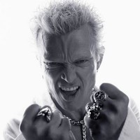 Billy Idol Bw Poster Standup 4inx6in