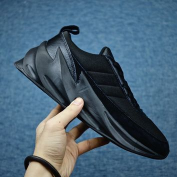 【Original】Adidas Sharks Concept Men's Running Shoes all black authentic