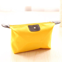 Yellow Waterproof Cosmetic Bag