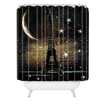 Deniz Ercelebi Paris Midnight Shower Curtain