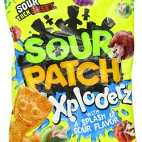 Sour Patch Xploderz Peg Bag, 6.5-Ounce (Pack of 12)