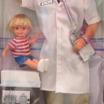 Dr. Ken & Little Patient Tommy Barbie Doll Set