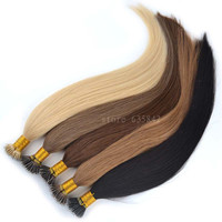 "Micro Loop Nano Ring Hair Extensions 0.5g*100s 18""/45cm 50g Straight Human Remy Natural Hair Black Brown Blonde available"
