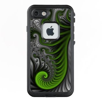 Fantasy World Green And Gray Abstract Fractal Art LifeProof® FRĒ® iPhone 7 Case
