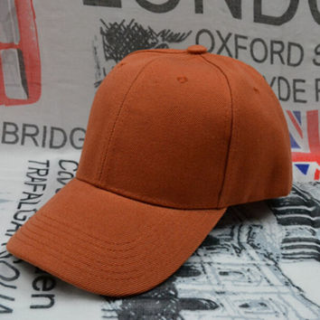 Orange Baseball Cap Sun Hat for Women Men Gift 76