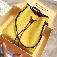 LV Louis Vuitton High Quality Fashion Women Leather Handbag Crossbody Satchel Shoulder Bag Yellow