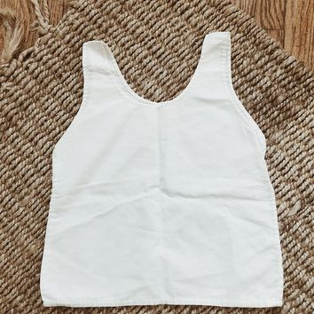 Vintage 1950's Cotton Tank | Kids Size 12M