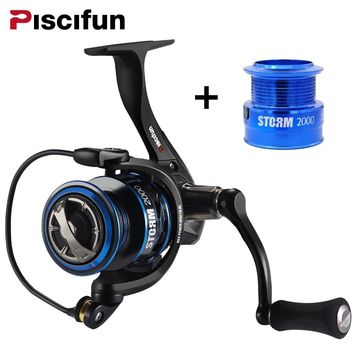 Piscifun 6.2:1 High Gear Ratio Spinning Reel with Extra Spare Light Spool 2000,3000,4000,5000 11 BB 10KG Max Drag Fishing Reel