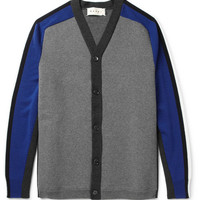 Marni Panelled Bonded Wool-Blend Cardigan | MR PORTER