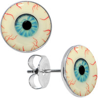 Blood Shot Eye Glow in the Dark Stud Earrings