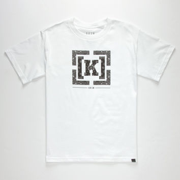 Kr3w Bracket Boys T-Shirt White  In Sizes